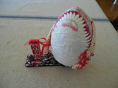 Hand Made Roly Poly Santa Claus