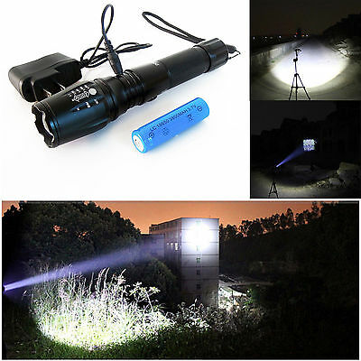 2000lm Ultrafire CREE XM-L T6 LED Flashlight + 18650 Battery + Charger
