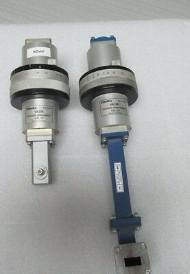 Elmika VA20E ,WR - 62 Variable Attenuators ,0- 40 dB 15GHz ,  lot of 2