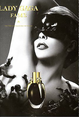"""NEW Lady Gaga """"Fame"""" Fragrances parfum print Pull & Sniff ad  Great to frame!"""