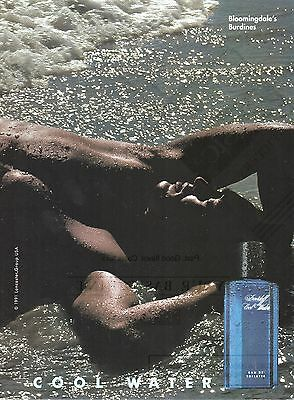 Vintage 1991 Davidoff Cool Water cologne print ad   Muscular Male Model