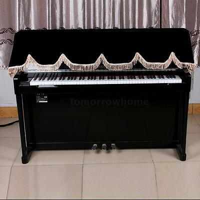 88-key Electronic Piano Keyboard Cover Pleuche Decorated with Fringes