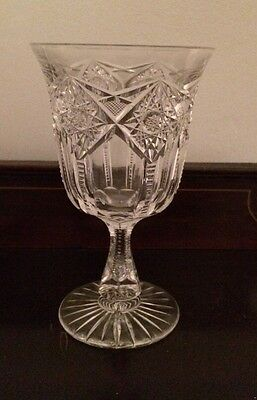 American Brilliant Period Cut Glass Water Goblet Sinclaire Westminster