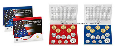 2013 US Mint Uncirculated Set Certificate of Authenticity 28 coins