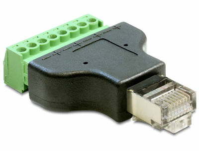 Delock Adapter RJ45 male > Terminal Block 8 pin removable / connect single wires