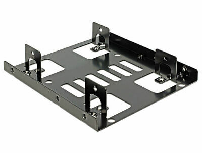 Delock Installation frame 3.5″   2 x 2.5″ install 2x2.5″HDDs instead of one 3.5″