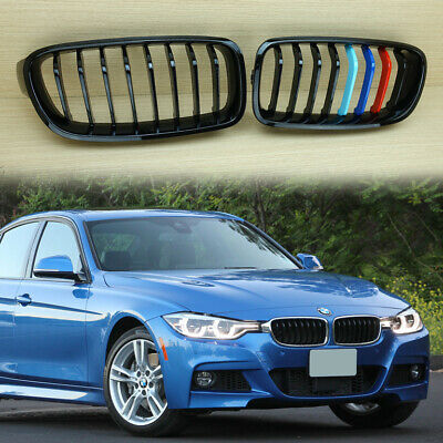 Glossy Black M Color Fit Bmw F30 F31 Front Kidney Grille Grill