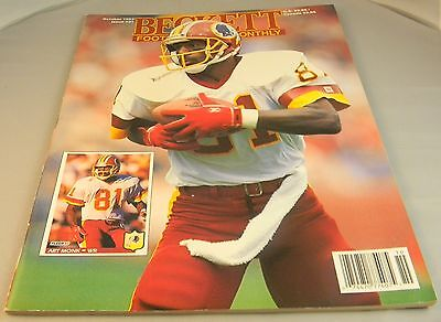 BECKETT'S FOOTBALL CARD MONTHLY OCTOBER 1992 PRICE GUIDE FOR TRADING CARDS Z6