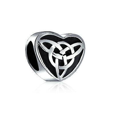 Bling Jewelry 925 Sterling Celtic Knot Triquetra Heart Charm