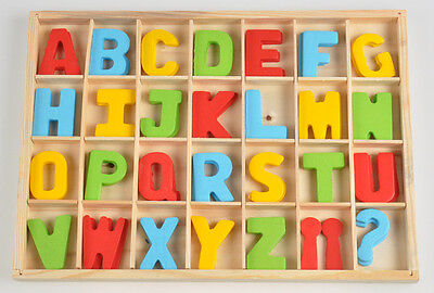 Colorful Alphabets Punctuations Kid's Puzzle Toy Brick Preschool Education Tool
