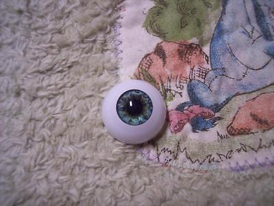 ReAL EyEs AcRyLiC EyEs 22MM LiGhT BLuE GrEeN FoR ReBoRn DoLL LIMITED EDITION