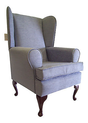 Fireside/Wing Back Chair Lovely Fresco Chenille**15 Colours*Select in 'Options'