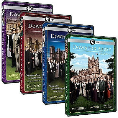 Masterpiece Classic: Downton Abbey DVD Seasons 1-4 New Complete Season 1, 2, 3,4