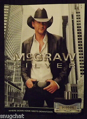 Magazine Ad November 2010 MCGRAW SILVER The New Cologne From Singer TIM MCGRAW