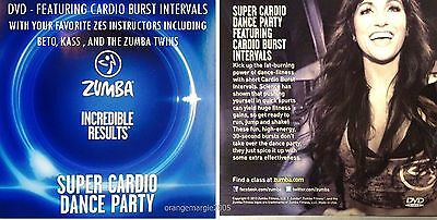 Zumba Fitness DVD SUPER CARDIO DANCE PARTY Region Free...Plays in All Countries