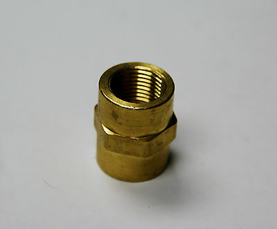 Brass Fittings Brass Coupling Female Pipe Size 3/8 Quantity of 5