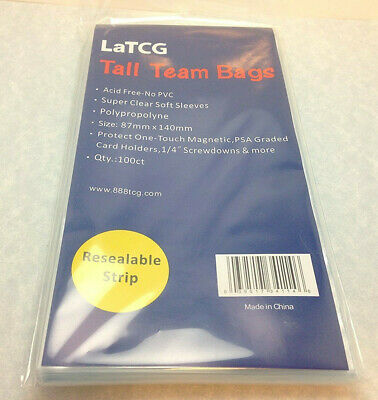 100 LaTCG Tall Team Bags/PSA Graded/Ultra.Pro One-Touch Magnetic Holder Sleeves