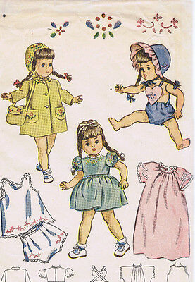 "1809B Vintage Chubby Doll Pattern - Size 14"" - Year 1947"