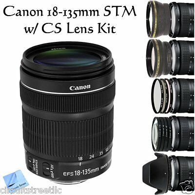 Canon EF-S 18-135mm f/3.5-5.6 IS STM with Pro Package 2 Extra lenses 7 Filters +