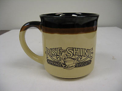 Vintage Hardee's Rise and Shine Homemade Biscuits Coffee Cup Mug 1986