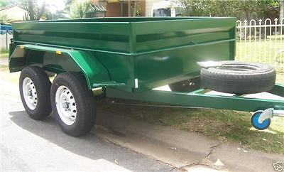 8x6 TANDEM BOX TRAILER H/DUTY HIGH SIDES FLOOR SEAM WELDED FOR STRENGTH