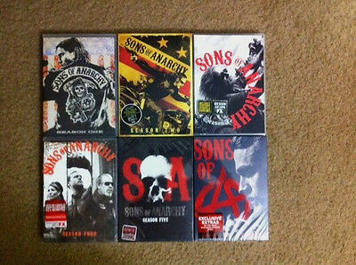 Sons of Anarchy: Season 1-6 DVD The complete set New Factory Free Shipping.