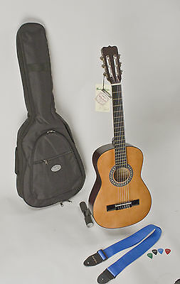 CHILD'S LEFT HANDED GUITAR 1/2 SIZE HIGHER QUALITY W/ EASY PLAYING NYLON STRINGS