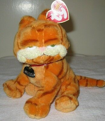"""2004 Garfield the Movie Ty  8"""" Beanie Baby Beanbag with Collar and hang tag"""