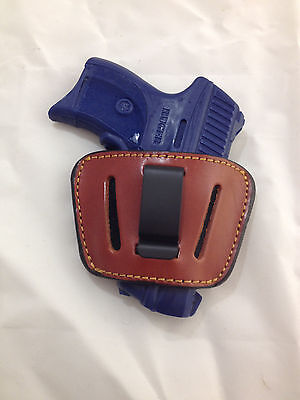 Leather Concealment Holster- RUGER LC9, LC9s, LC380, EC9, EC9s / Laser (#1035)