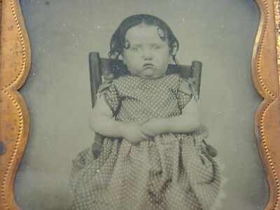 Antique Vtg Photo Ambrotype Child Young Girl