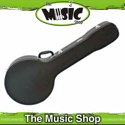 V-Case Shaped Hard Case for Banjo - Fits most 5 String 6 String and Tenor Banjos