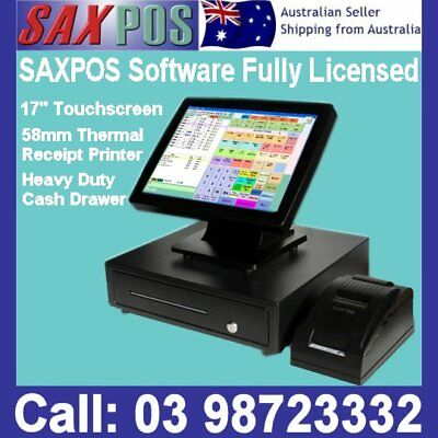 SAXPOS S2302 Complete Touchscreen Basic POS (Point of Sale) System with Software