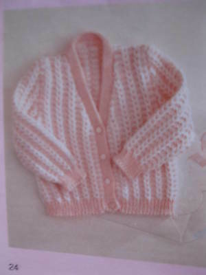 baby knitting pattern cardigan 3 mths to 2 1/2 years 4 ply