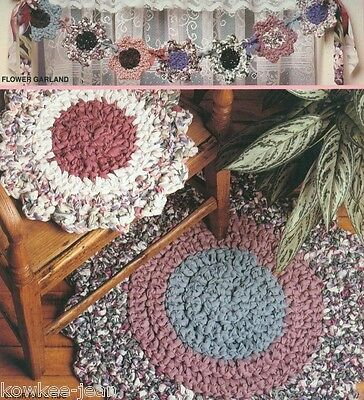 Crochet rag rug patterns McCall's Creates Flower Patch