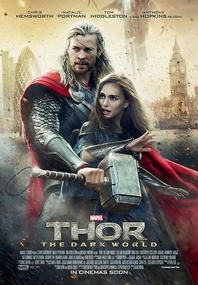 THOR - The Dark World - Original 2 Sided INTL Movie Poster 27x40 DS RARE Style B