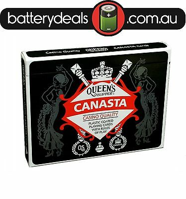 Canasta Playing Cards Queen's Slipper Double Deck Casino Quality plastic coated