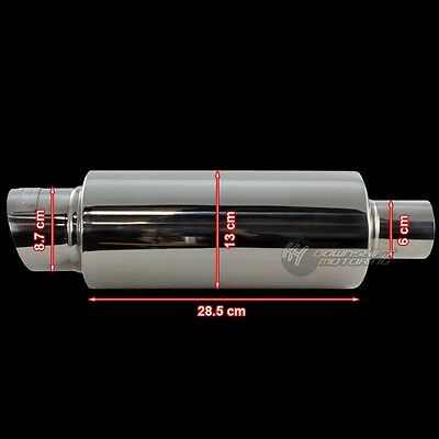 """Dc Sports 3.5"""" Stainless Steel Exhaust Performance Muffler For Mazda Mitsubishi"""