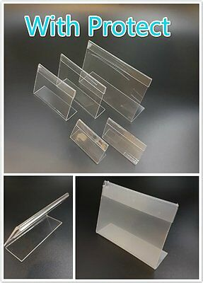 6Pcs Clear Acrylic Sign Display Holder Price Label Stand Size Choice