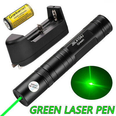 Military 532nm Green Laser Pointer Pen Visible Beam Light JD850 +Battery+Charger