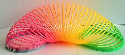 SMALL MULTI COLOURED SLINKY - A Timeless Classic Toy! - Rapid Same Day Despatch