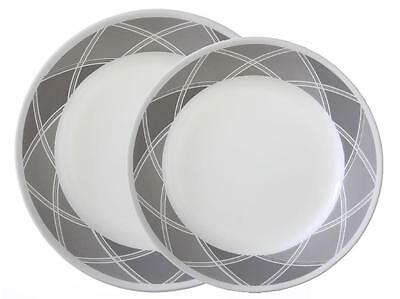 CORELLE Vive SAVVY SHADES of GRAY Choose: DINNER or LUNCH PLATE *Grey Wide Rims