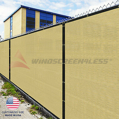 Customize 4' (H) Fence Privacy Screen Windscreen Mesh Fabric Cover Shade Cloth