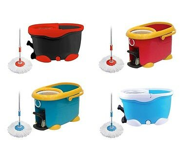 Easy Mop 360° Rotating Spin Magic Mop and Bucket Set with Power Spin Wringer D