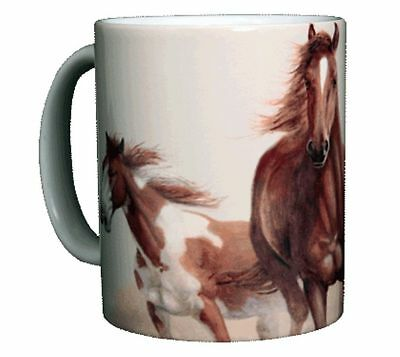 Horse Themed 11 OZ. Ceramic Coffee Mug or Tea Cup