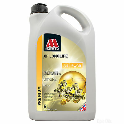 Millers Oils XF Longlife C1 5W-30 Fully Synthetic 5W30 Engine Oil 5 Litres 5L