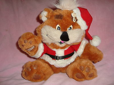 "Zellers Teddy Bear ZEDDY Dressed in Santa Suit Plush 10"" tall"