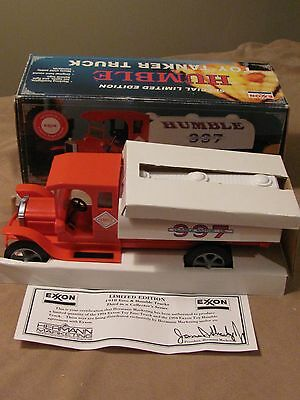 Exxon Humble 997 Toy Tanker Truck - Free Us Shipping!