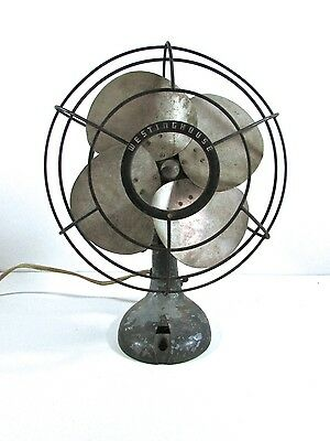 Vintage Retro Westinghouse 4 Blade Electric Fan For Restoration
