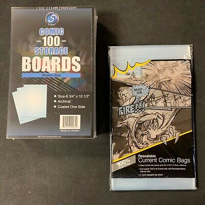 100 Ultra Pro Current  Resealable Storage Bags And Boards New Factory Sealed