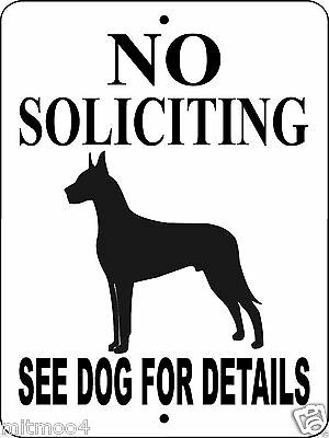 GREAT DANE Guard Dog Aluminum Sign  Vinyl GRAPHICS APPLIED  GDNS